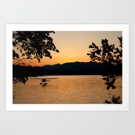 Sunset at Hood Canal Art Print