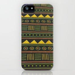 aztec design yellow iPhone Case