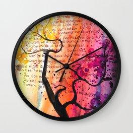 Tree of Feelings. Wall Clock