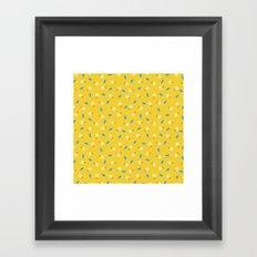 playful yellow Framed Art Print