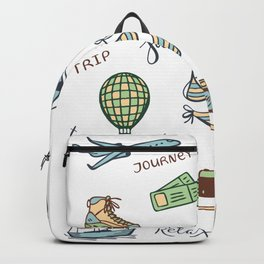 Print for travelers Backpack
