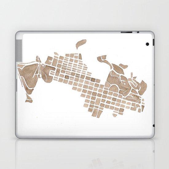 Aspen Colorado watercolormap Laptop & iPad Skin