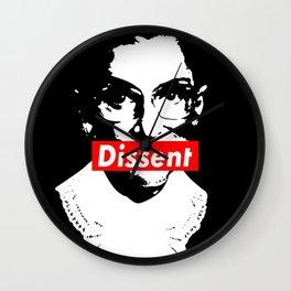 Ruth Bader Ginsburg Dissent Feminist Political RBG Wall Clock