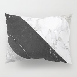 Contemporary Marble Stone Rays Pillow Sham