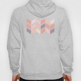 Pink Orange and Gray Chevron Hoody