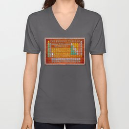Vintage Industrial Periodic Table Of The Elements Unisex V-Neck