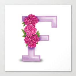 F is for Flower Canvas Print