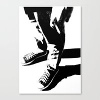 indie Canvas Prints featuring Indie Rock by alex lodermeier