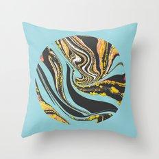 Wavy Marbling Throw Pillow