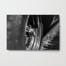 Old School Wheel Metal Print