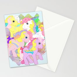 g1 my little pony rainbow curl ponies Stationery Cards