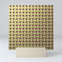 colored stripe pattern with rectangles and Mini Art Print