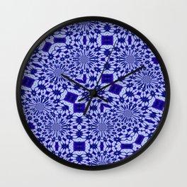 Purple Floral Pattern Wall Clock