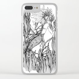 Hello Mermaide Clear iPhone Case