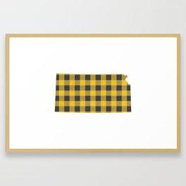 Kansas Plaid in Yellow Framed Art Print