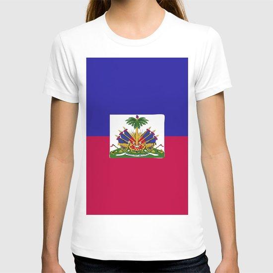 Haiti flag emblem by textures