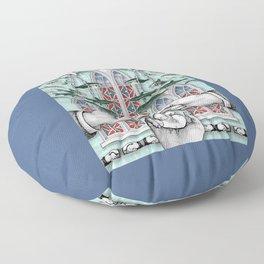 Three of Pentacles Floor Pillow