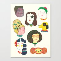 talking heads Canvas Prints featuring Heads by Ana Albero