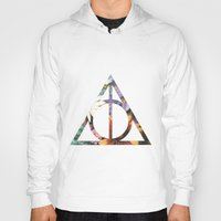 deathly hallows Hoodies featuring Deathly Hallows by Romana Catalini