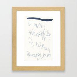 wishful thinking. spell 1. Framed Art Print