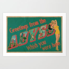 Welcome to the Abyss Art Print