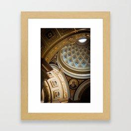 Interior Dome, St. Stephen Basilica, Budapest Framed Art Print