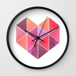 Polygonal Heart Wall Clock