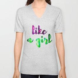Like a Girl Unisex V-Neck