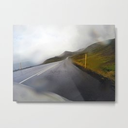 Winding Mountain Roads on the Northern Coast of Iceland Metal Print