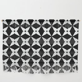 Geometric Pattern 247 (white crosses) Wall Hanging
