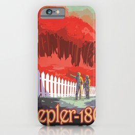 Kepler-186 : NASA Retro Solar System Travel Posters iPhone Case