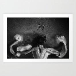 Icarus - Self Portrait Art Print