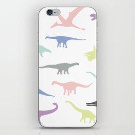 Colorful dinosaurus pattern iPhone Skin