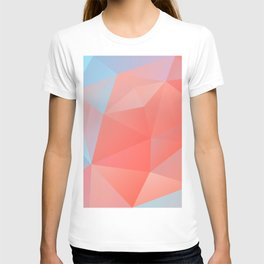 coral geometry T-shirt