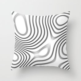 Organic Abstract 01 WHITE Throw Pillow
