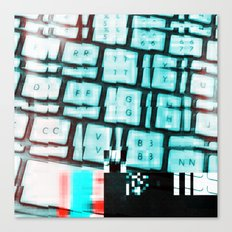 Glitchy keys Canvas Print