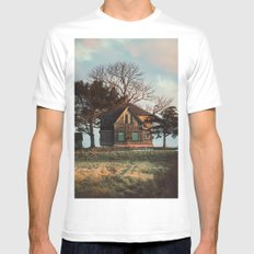 Hilltop Homestead Mens Fitted Tee MEDIUM White