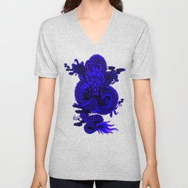 Epic Dragon Blue Unisex V-Neck