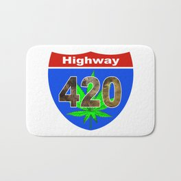 Highway 420... Up in Smoke Bath Mat