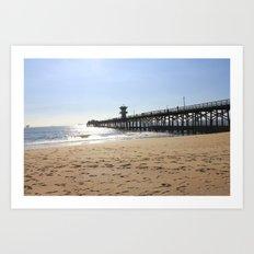 CA Pier  Art Print