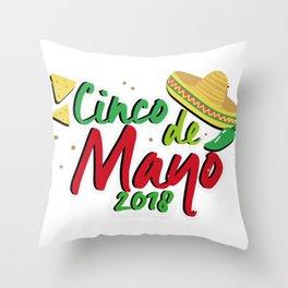Cinco De Mayo 2018 Celebration Throw Pillow