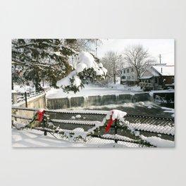 Chagrin Falls Winter  Canvas Print