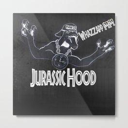 Jurassic Hood Metal Print