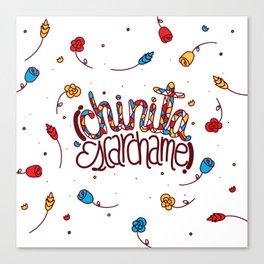 Chinita Escarchame Canvas Print