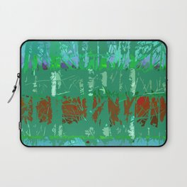 Abstract Forest Trees in Teal and Green Laptop Sleeve