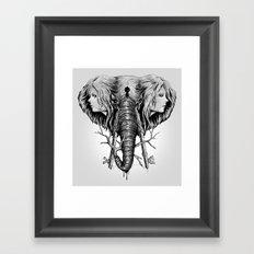 Hidden Memories (B/W) Framed Art Print