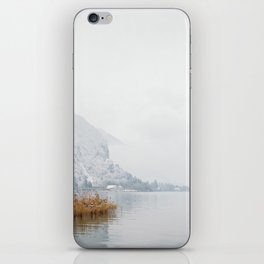 Annecy under the snow - French Alps iPhone Skin