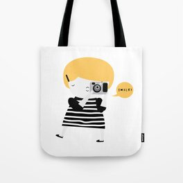 The blonde photographer Tote Bag