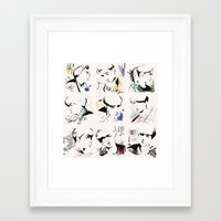 exo Framed Art Prints featuring Love Me Right - EXO by emametlo