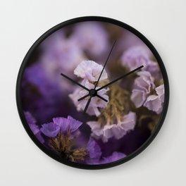 Purple dried flowers Wall Clock